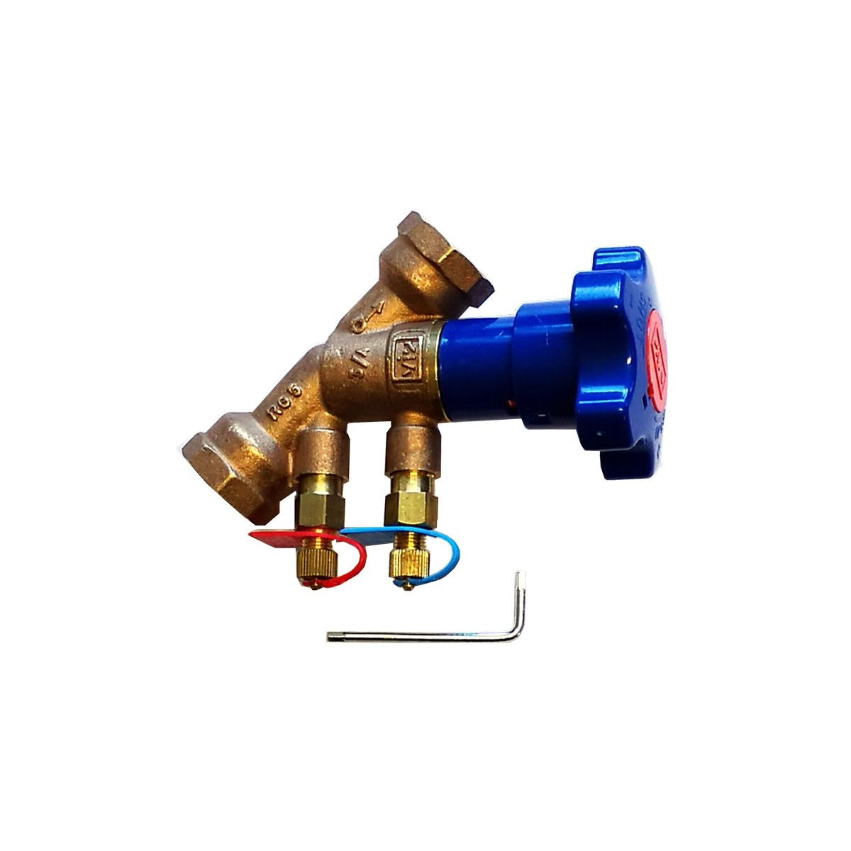 Double regulating and commissioning valve DN20 PN25 kv 4.3