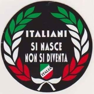 Italiani si nasce non si diventa