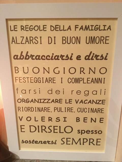 Le Regole Della Famiglia Alzarsi Di Buon Umore Cerca Frasi Facebook