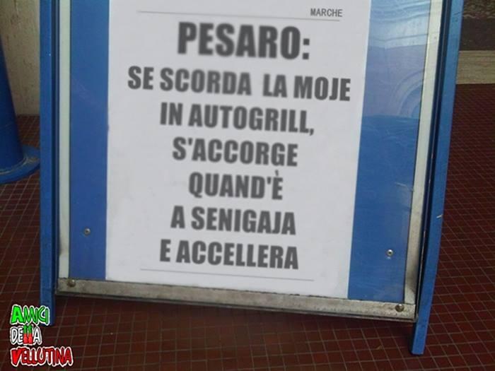 Pesaro, se scorda la moje in autogrill, s'accorge quand'è a senigallia e accelera