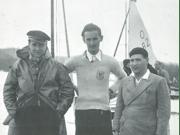 Jacques Lebrun (à gauche) de retour de Los Angeles