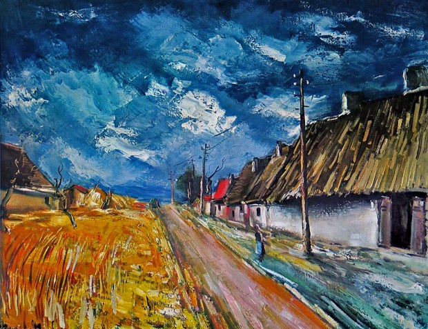 Maurice_De_Vlaminck-Thatched_Cottages_at_the_Roadside