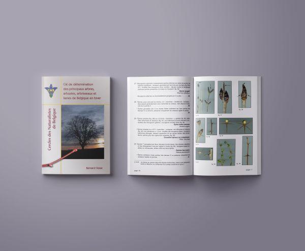 couverture et intérieur de la clé de détermination des arbres, arbustes, arbrisseaux et lianes de Belgique en hiver