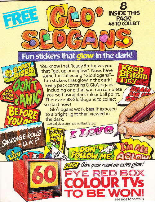 1986 glo slogans issued