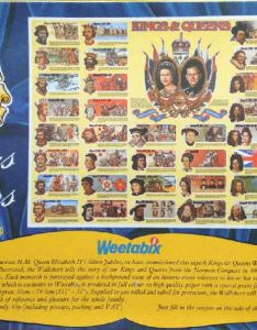 Weetabix kings  queens wallchart also of england cereal send away rh cerealoffers