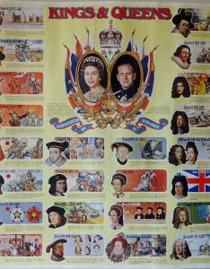 Weetabix kings  queens of england poster also wallchart cereal send away rh cerealoffers
