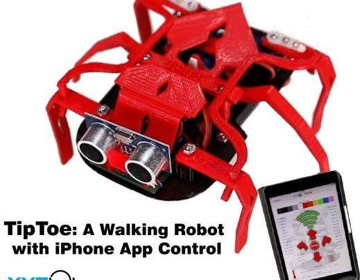 TipToe: A walking Robot with iPhone App Control – Cerebral