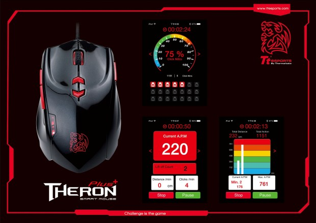 Tt eSPORTS new THERON Plus Smart Mouse with e-Sports App software, a very first exclusive Tt eSports Plus mobile software with the quantifie
