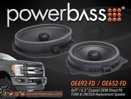 Powerbass Shipping FORD OE Direct Fit Replacement Speakers