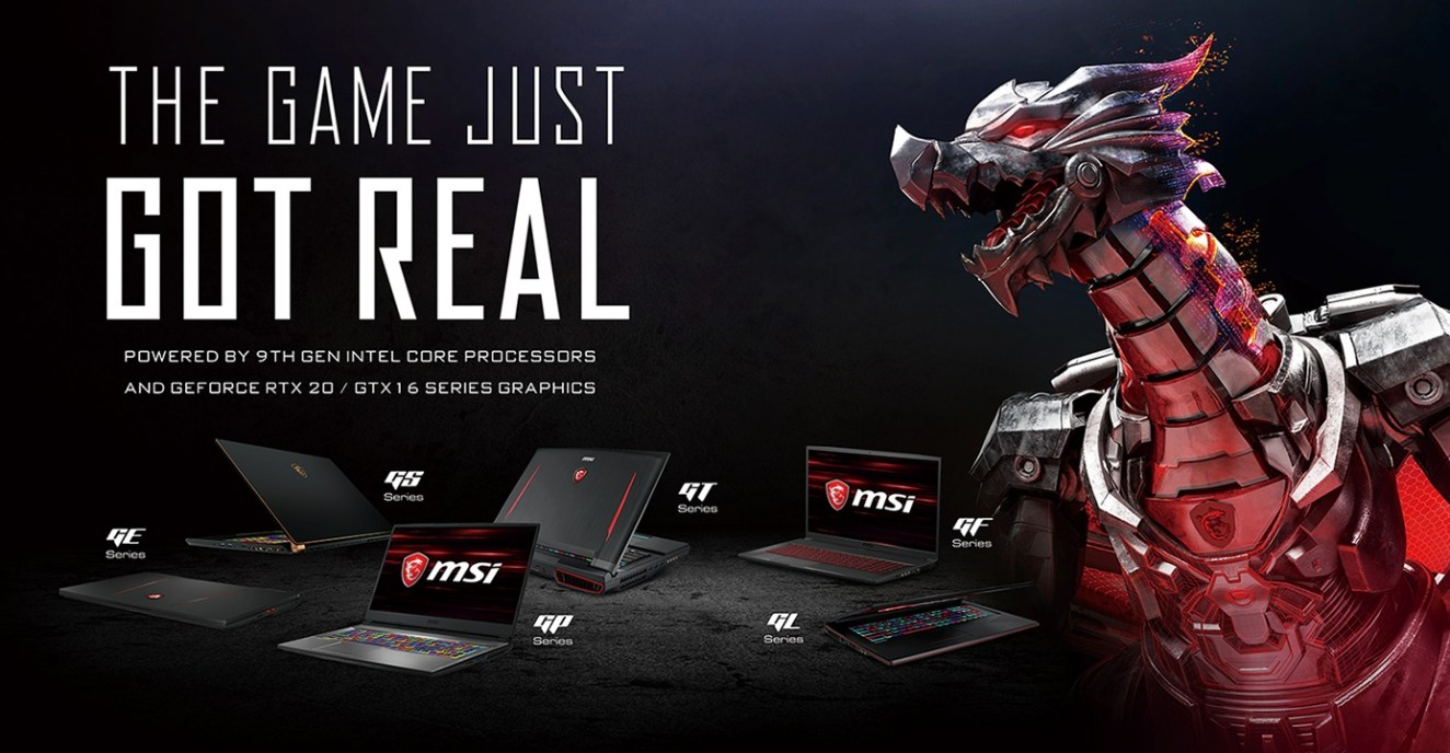 MSI DEBUTS THE WORLD'S FIRST GAMING LAPTOPS WITH THE 9TH GEN