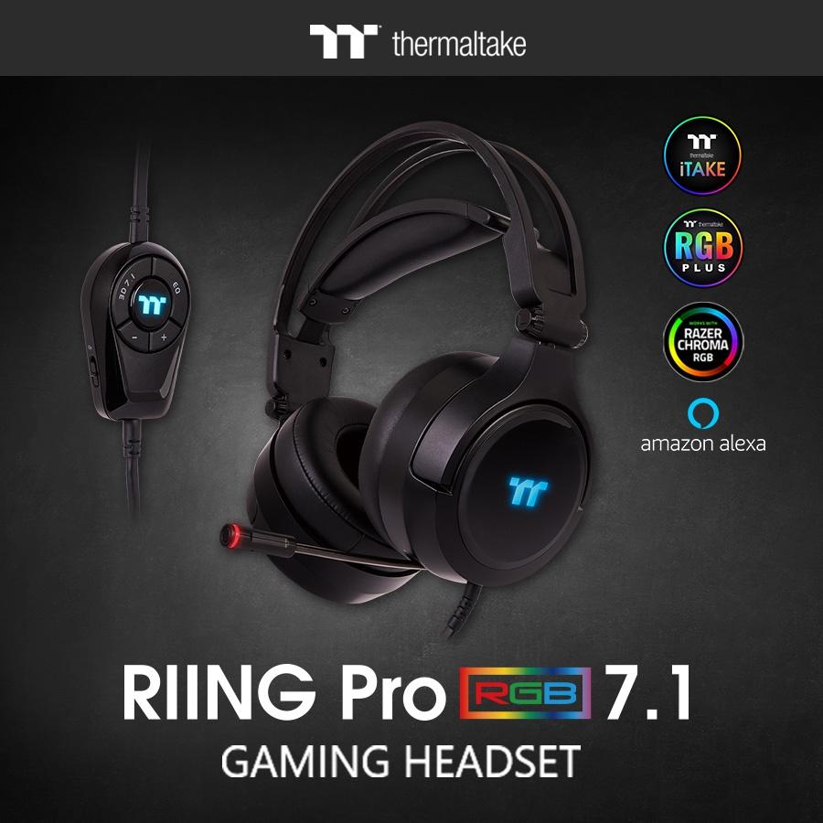The New Thermaltake RIING Pro RGB 7.1 Gaming Headset