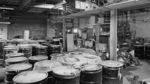 El laboratorio de cristalización de radio de la Corporación Radium de los Estados Unidos.