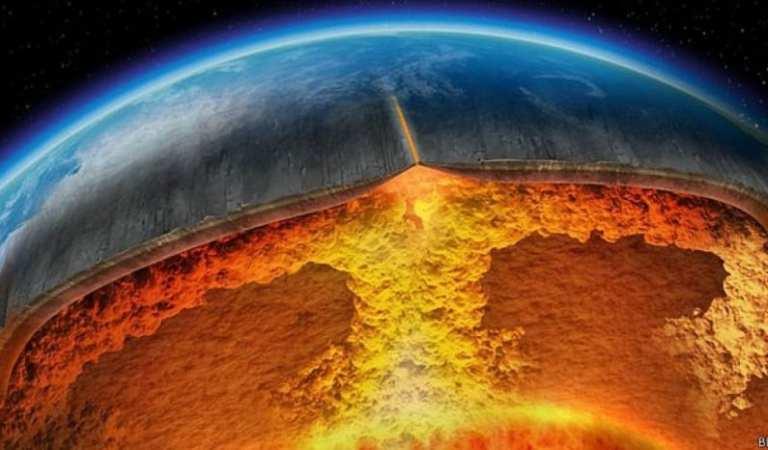 Encuentran anomalía en el centro de la tierra