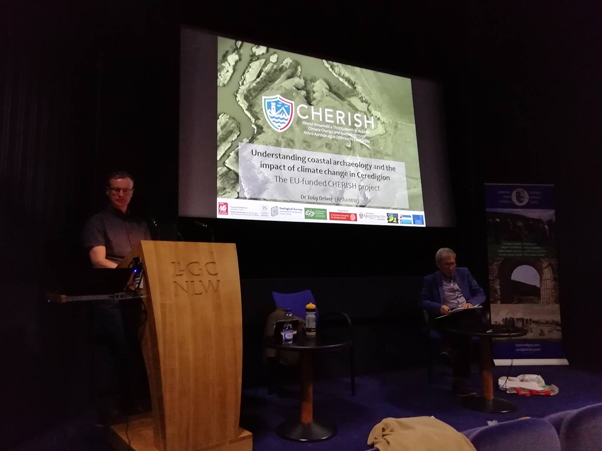 Understanding coastal archaeology and the impact of climate change in Ceredigion - the EU-funded CHERISH Project