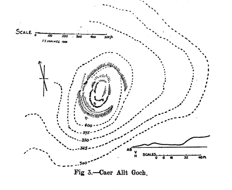 Site plan of Caer Allt Goch