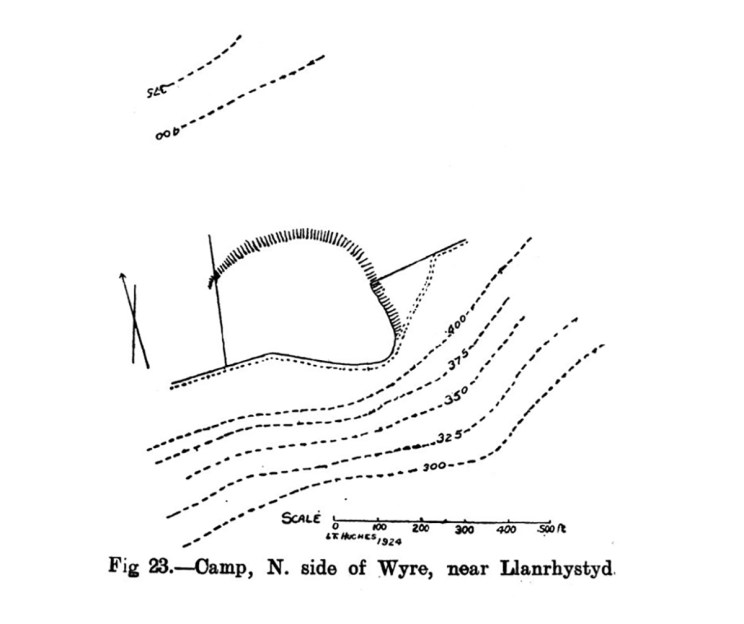 Site plan of Camp North side of Wyre near Llanrhystyd