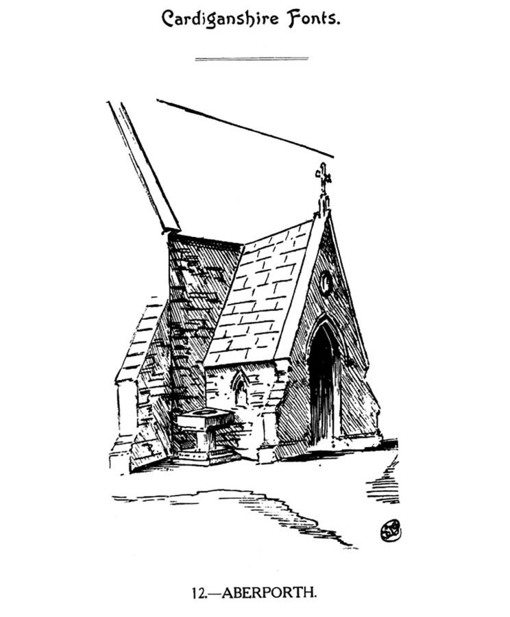 Cardiganshire Fonts - Aberporth