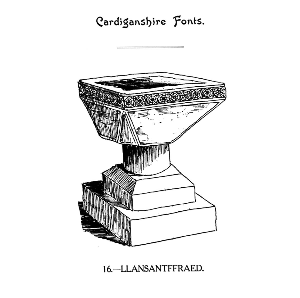 Bedyddfeini Sir Aberteifi - Llansanffraid