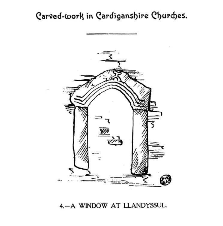 Carved-work in Cardiganshire Churches - a window at Llandyssul