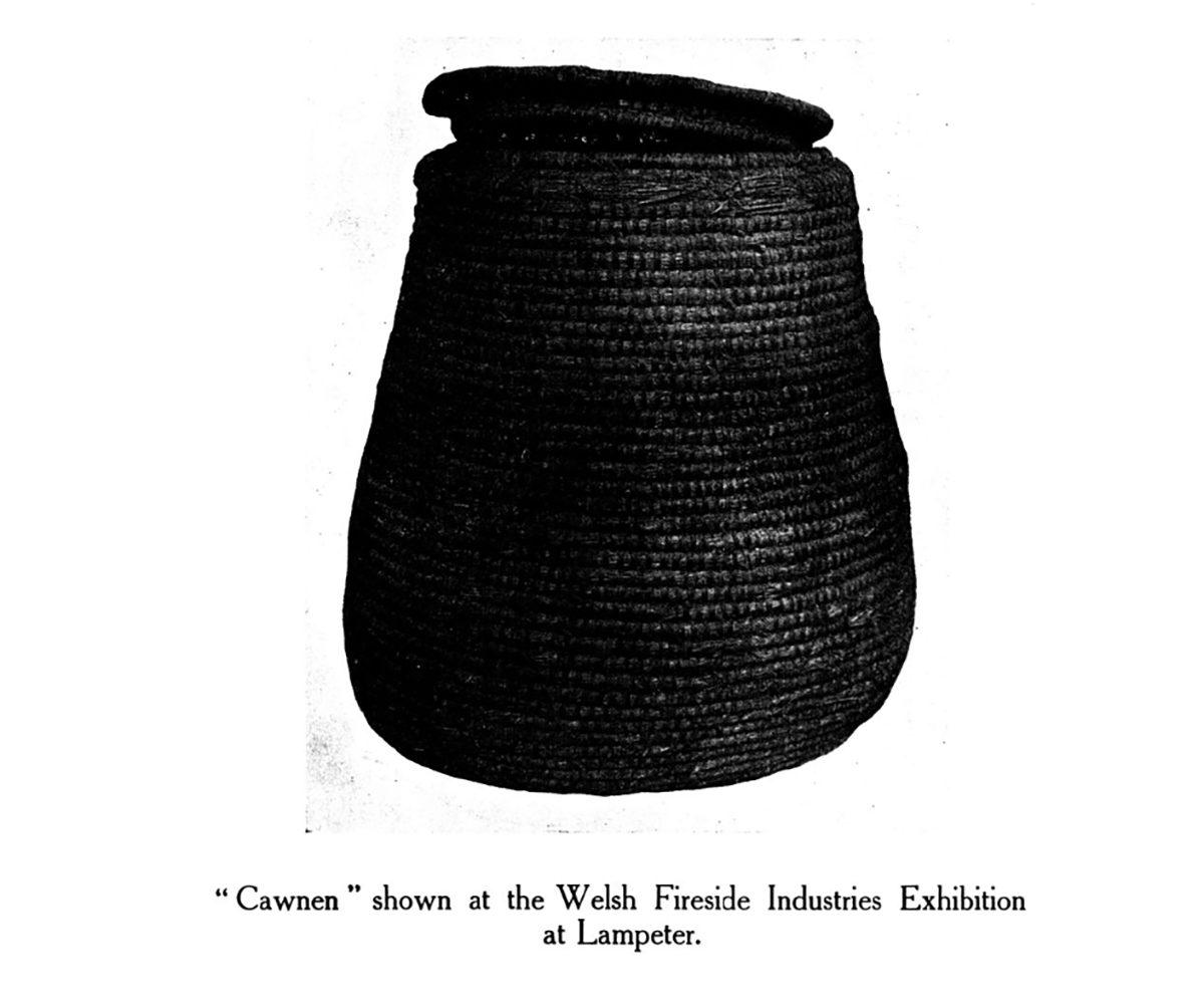 Cawnen i'w gweld yn Arddangosfa Diwydiannau Fireside Cymru yn Llanbedr Pont Steffan