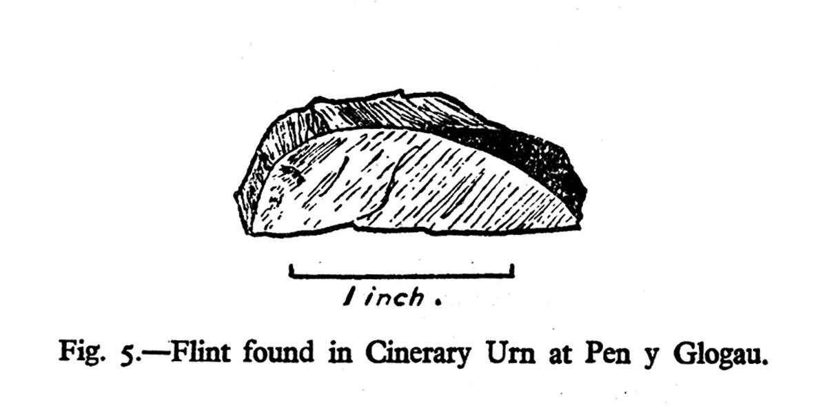 Flint found in Cinerary Urn at Pen y Glogau
