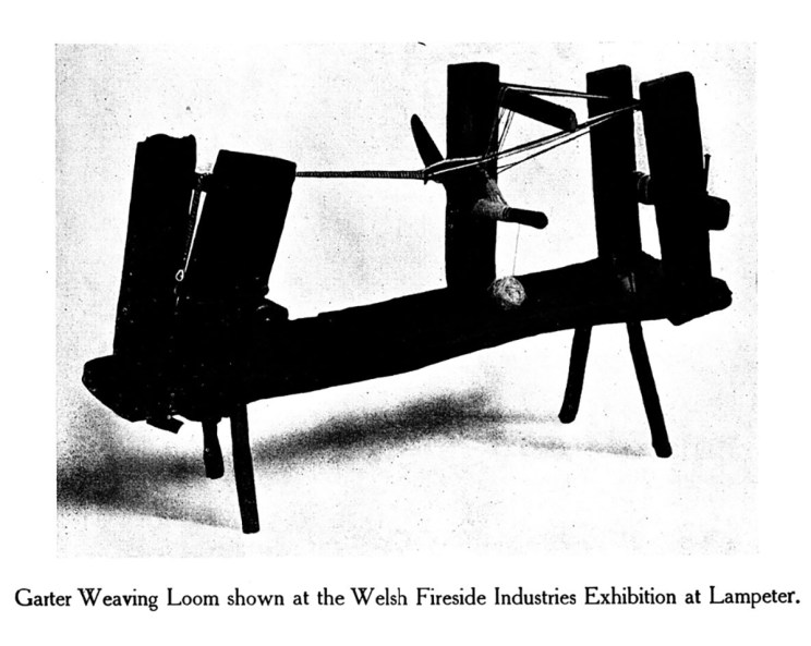 Garter Weaving Loom shown at the Welsh Fireside Industries Exhibition at Lampeter