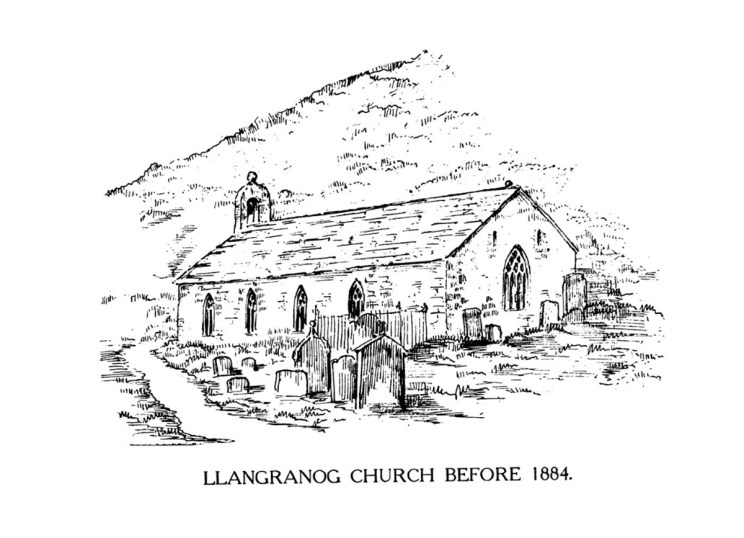 Llangranog Church before 1884