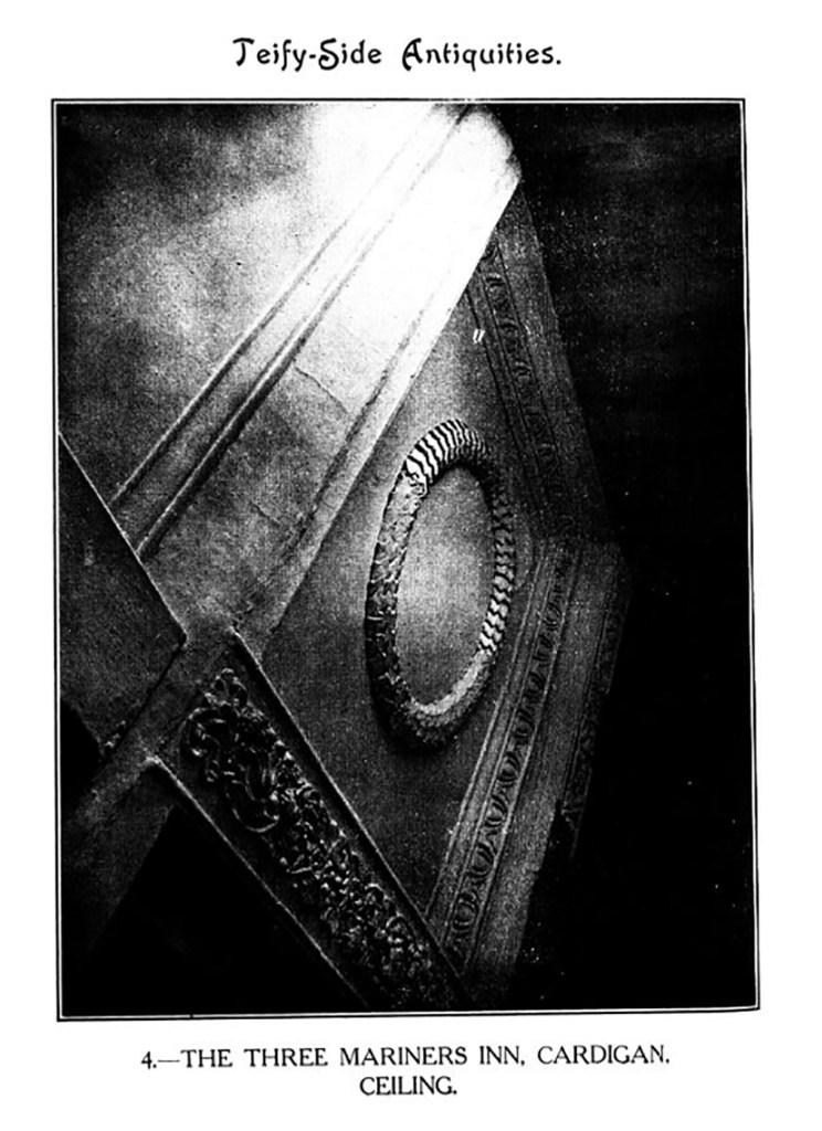 Teify-Side Antiquities - The Three Mariners Inn, Cardigan Ceiling