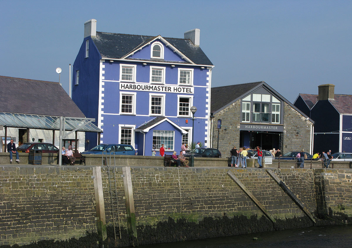 Harbourmaster Hotel Aberaeron - Built for the Harbourmaster, with a tavern on the first floor. It became known as the Harbourmaster in the early 1960s.
