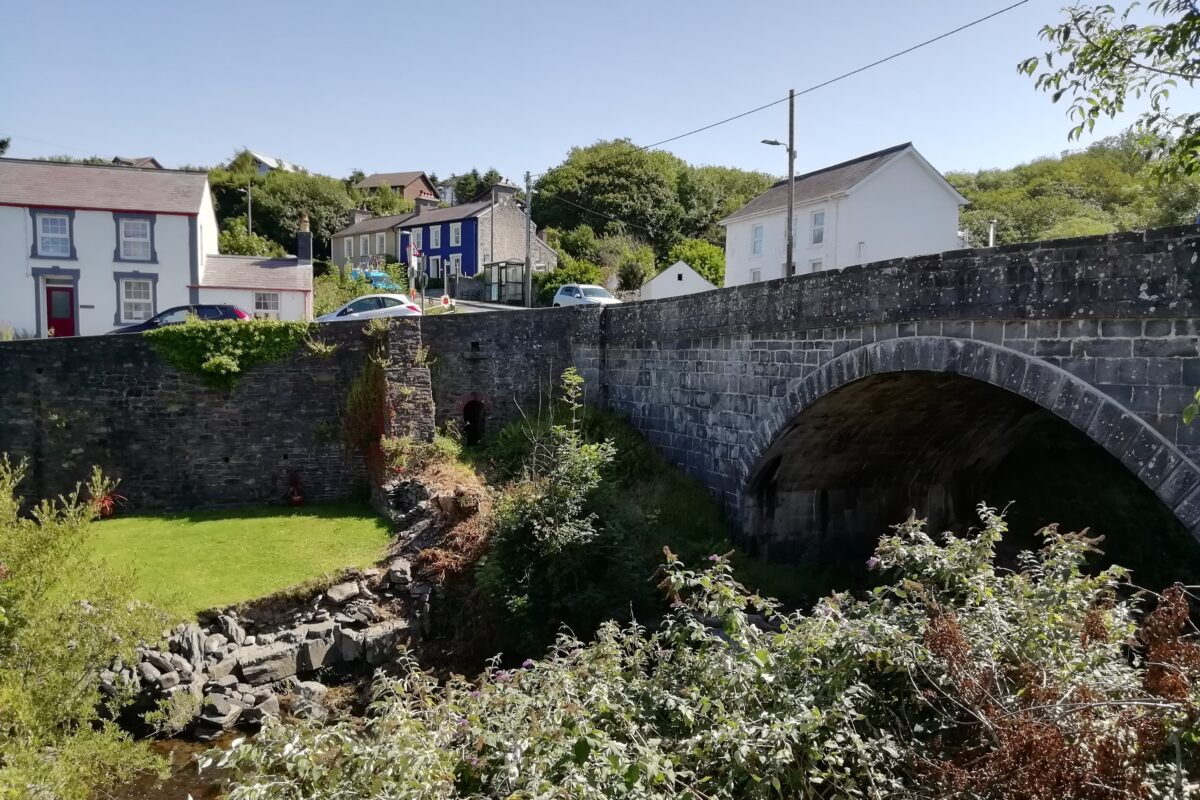 Pont Aberarth was built in 1849 after the former bridge was destroyed by flood in 1846