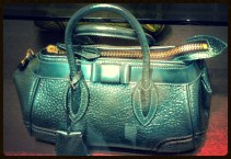 Blaze bag in metallic leather