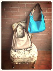 2 in one metal bag - Blue/brown - Other colours available on request