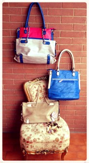 2 in one Chains bags - Brown/blu and Pink/White - Other colours available on request