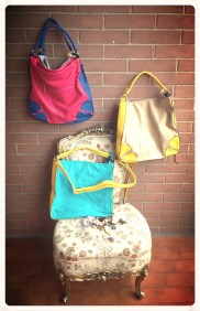 2 in one mat bags - Yellow/blu and Pink/deep blue - Other colours available on request
