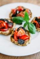 Bruschetta, raw food