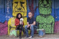 Davor Borojević i Margareta Vidmar s maltezericom Lucy