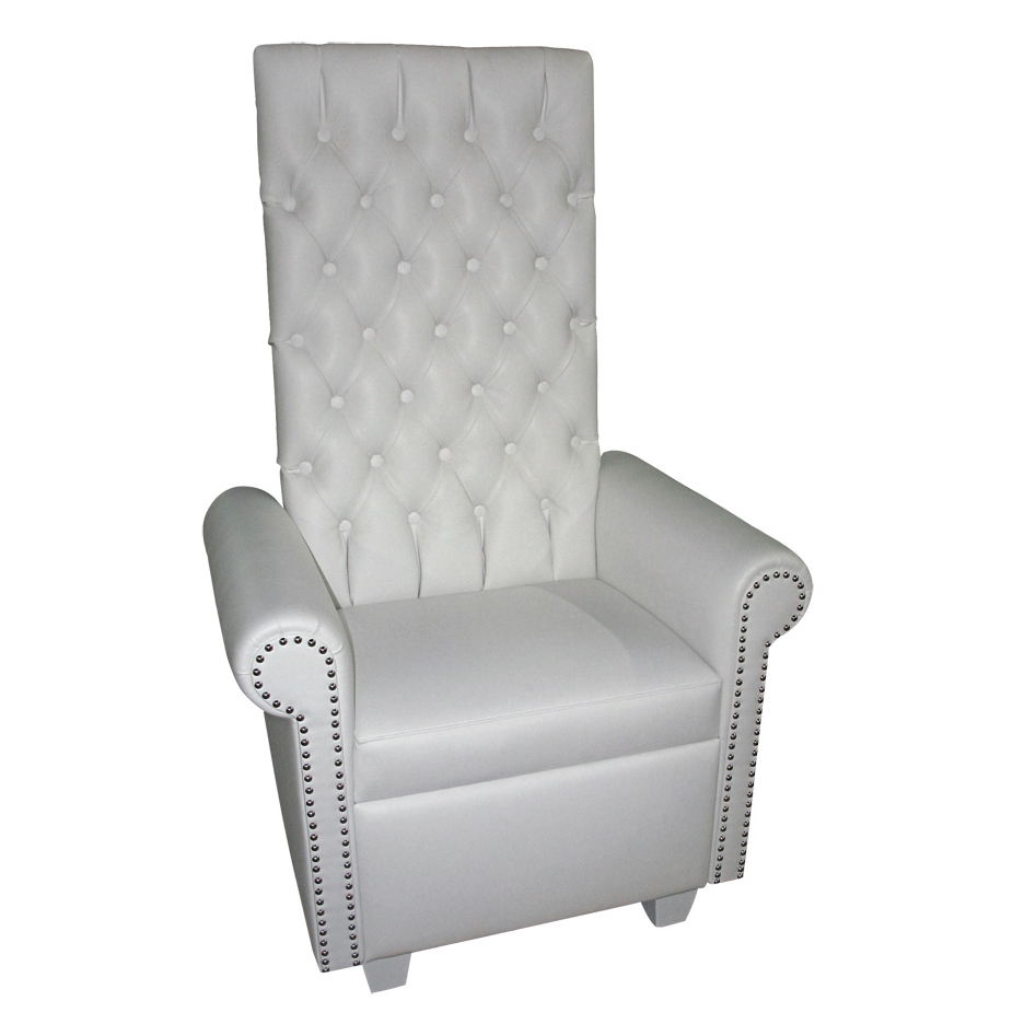 high backed throne chair wireless game back white leather