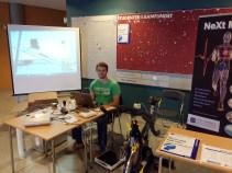 Kondistesting under Ungdommens forskernatt 2014.