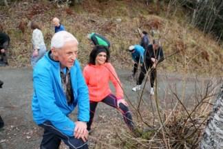 Intervalltrening ute med deltakerne i forskningsprosjektet Generasjon 100. Foto: Andrea Hegdahl Tiltnes/NTNU