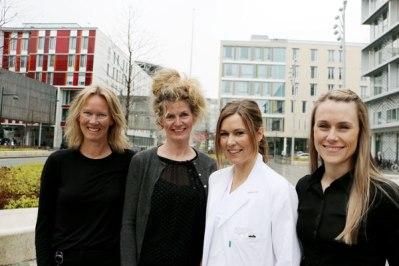 Fra venstre: Faglig leder/koordinator, Inger-Lise Aamot, Fagansvarlig læring og mestring, Borghild Lomundal, lege, Elisabeth Vesterbekkmo og områderedaktør Stine Maren Riksfjord.