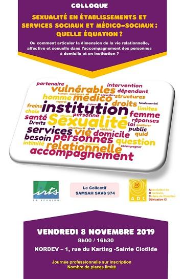Colloque à la Réunion :« Sexualité en établissements et services sociaux et médico-sociaux : Quelle équation ? »