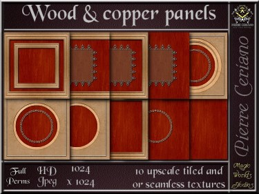 Wood & copper paneling SL Add