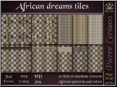 African dreams tiles SL Add