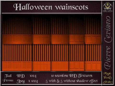 Halloween wainscots SL Add