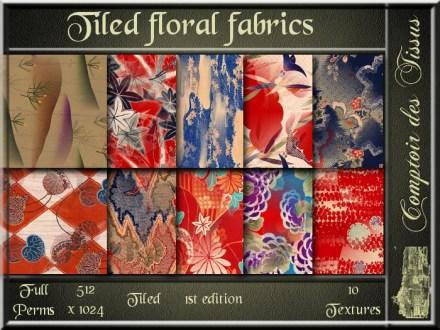 Tiled floral fabrics - 1st ed. SL Add