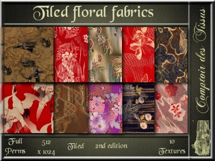 Tiled floral fabrics 2nd edition SL Add