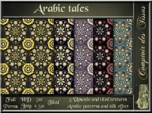 Arabic tales - 5 upscale and tiled fabrics textures SL ad