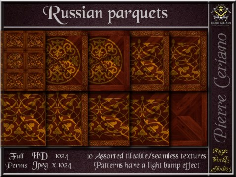 Russian parquets - 10 FULL PERMS Textures