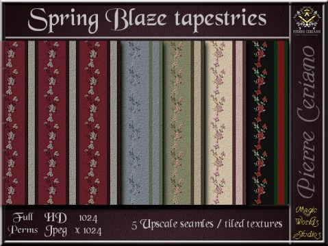 Spring blaze - 5 FULL PERMS Textures