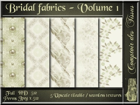Bridal fabrics - Volume 1 - 5 FULL PERMS Textures